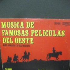 Discos de vinilo: MUSICA DE FAMOSAS PELICULAS DEL OESTE. MARIO CAVALLERO. LP 1986. Lote 221338880