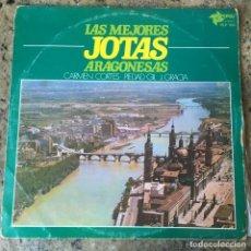 Discos de vinilo: LAS MEJORES JOTAS ARAGONESAS - CARMEN CORTES . PIEDAD GIL . J GRACIA . LP. . 1976 POPULI. Lote 221339247