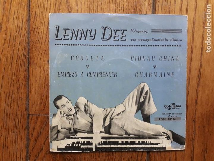 LENNY DEE - COQUETA + EMPIEZO A COMPRENDER + CIUDAD CHINA + CHARMAINE (Música - Discos de Vinilo - EPs - Jazz, Jazz-Rock, Blues y R&B)