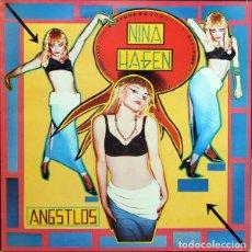 Discos de vinilo: NINA HAGEN, ANGSTLOS, LP 1983 SPAIN, CON FUNDA INTERIOR ORIGINAL. Lote 221343733