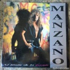 Discos de vinilo: MANZANO - AL LÍMITE DE LA PASIÓN . LP . 1990 . G.B.B.S. RECORDS. Lote 221344106
