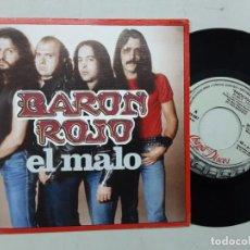 Discos de vinilo: BARON ROJO, EL MALO + ROCKERO INDOMABLE. Lote 221363307