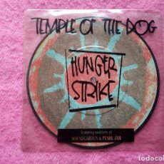 Disques de vinyle: SINGLE TEMPLE OF DOG - HUNGER STRIKE - AM 0091 - PICTURE UK PRESS (NM/NM). Lote 221363647