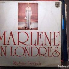 Discos de vinilo: MARLENE DIETRICH : MARLENE EN LONDRES ED. ESPAÑA - PHILIPS 1973 BURT BACHARACH. Lote 221367773