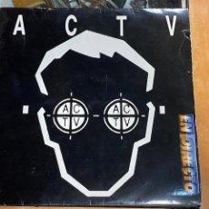 Discos de vinilo: ACTV EN DIRECTO-VINILO-LP 33 RPM-CONTRASEÑA RECORDS-DJ MANOLO EL PIRATA-VALENCIA-1994. Lote 221368107