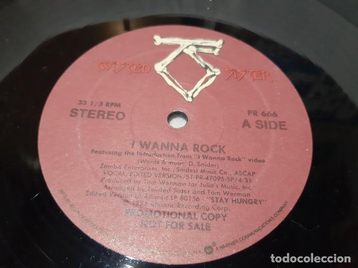 Discos de vinilo: TWISTED SISTER -I WANNA ROCK / WERE NOT GONNA TAKE IT- (1984) MAXI-SINGLE - Foto 2 - 221377082