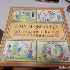 Discos de vinilo: JOAN LLONGUERAS - CANÇONS I JOCS D'INFANTS - 2 LP BOX CON FOLLETO INCLUIDO. Lote 221383183