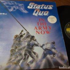 Discos de vinilo: STATUS QUO (IN THE ARMY NOW ) MAXI SINGLE ESPAÑA 1986 -. Lote 221387187