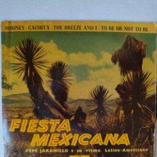 Discos de vinilo: FIESTA MEXICANA - PEPE JARAMILLO Y SU RITMO LATÍNO-AMERICANO-SIBONEY + 3. EP. ODEÓN 1963. Lote 221389681