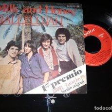 Discos de vinilo: MILK AND HONEY / HALLELUJAH / SINGLE 45 RPM / EUROVISION 1979. Lote 221392941