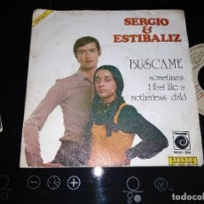 Discos de vinilo: SERGIO & ESTIBALIZ / BUSCAME / SINGLE 45 RPM / NOVOLA. Lote 221393142