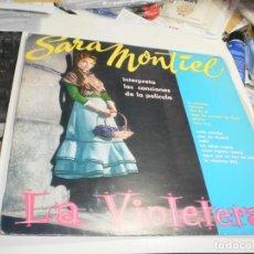 Discos de vinilo: LP SARA MONTIEL. LA VIOLETERA. HISPAVOX 1983 SPAIN (PROBADO Y BIEN, EN BUEN ESTADO). Lote 221398945