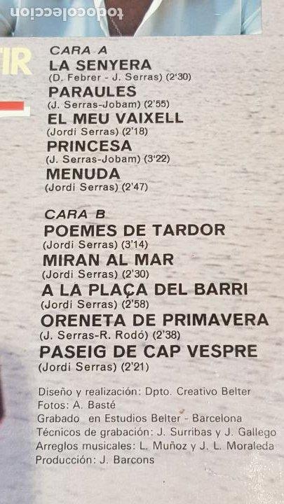 Discos de vinilo: JORDI SERRAS / UNA MANERA DE SENTIR / LP-GATEFOLD - SAUCE-1978 / MBC. ***/*** LETRAS. - Foto 4 - 221400065