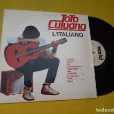 Discos de vinilo: LP TOTO CUTUGNO ?– L'ITALIANO - PORTUGAL - 1983 - VINILO (EX+/EX++) Ç. Lote 221400085