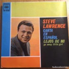 Discos de vinilo: STEVE LAWRENCE EP CANTA EN ESPAÑOL MUY BIEN CONSERVADO. Lote 221400983