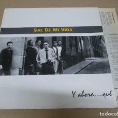 Discos de vinilo: SAL DE MI VIDA (LP) Y AHORA QUE? AÑO 1993 – ENCARTE CON LETRAS. Lote 221407381