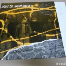 Discos de vinilo: SEGUNDO BANANA (LP) DADAS LAS CIRCUNSTANCIAS AÑO 1992 – HOJA CON LETRAS. Lote 221407785