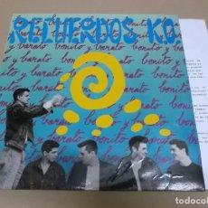 Discos de vinilo: RECUERDOS K.O. (LP) BONITO Y BARATO AÑO 1991 – HOJAS PROMOCIONALES. Lote 221409317