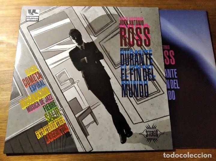 JUAN ANTONIO ROSS - PRESENTA DURANTE EL FIN DEL MUNDO ** RARO LP INDIE POP 2012 IMPECABLE, CON EL CD (Música - Discos - LP Vinilo - Grupos Españoles de los 90 a la actualidad)