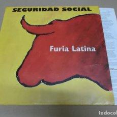 Discos de vinilo: SEGURIDAD SOCIAL (LP) FURIA LATINA AÑO 1993 – ENCARTE CON LETRAS. Lote 221411308