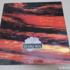 Discos de vinilo: SEGURIDAD SOCIAL (LP) QUE NO SE EXTINGA LA LLAMA AÑO 1991 – PORTADA ABIERTA. Lote 221411391