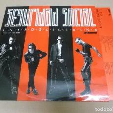 Discos de vinilo: SEGURIDAD SOCIAL (LP) INTROGLICERINA AÑO 1990 – HOJA CON LETRAS. Lote 221411643