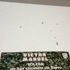 Disques de vinyle: BAL-7 DISCO 7 PULGADAS VINILO MUSICA VICTOR MANUEL SOLEDA. Lote 221415427