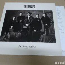 Discos de vinilo: LOS REBELDES (LP) EN CUERPO Y ALMA AÑO 1990 – HOJA CON LETRAS. Lote 221425243