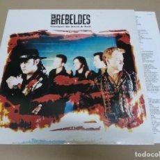 Discos de vinilo: LOS REBELDES (LP) TIEMPOS DE ROCK & ROLL AÑO 1991 – ENCARTE CON LETRAS. Lote 221425287