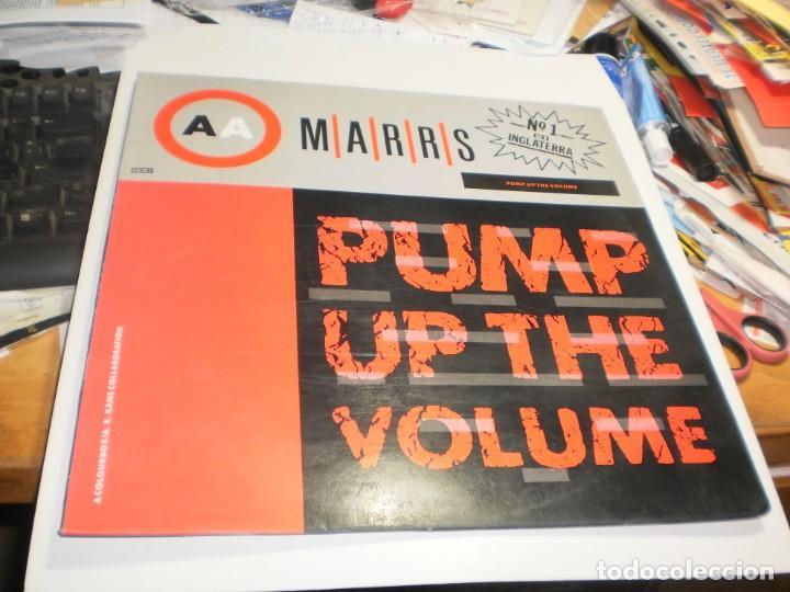 MAXI SINGLE MARRS PUMP UP THE VOLUME. BLANCO Y NEGRO 1987 SPAIN (PROBADO Y BIEN) (Música - Discos de Vinilo - Maxi Singles - Pop - Rock - New Wave Internacional de los 80)