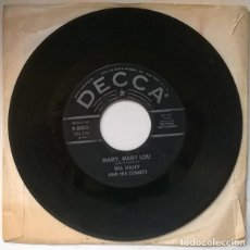 Discos de vinilo: BILL HALEY & HIS COMETS. MARY, MARY LOU/ IT'S A SIN. DECCA, GERMANY 1968 SINGLE. Lote 221428022