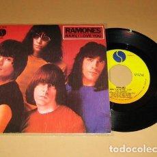 Discos de vinilo: RAMONES - BABY, I LOVE YOU - SINGLE - 1980 - SPAIN. Lote 221429413