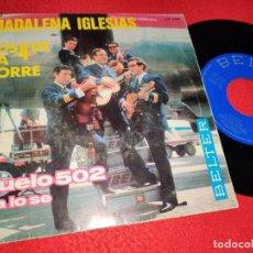 Discos de vinilo: MADALENA IGLESIAS Y LOS 4 DE LA TORRE VUELO 502/YA LO SE 7'' SINGLE 1966 BELTER. Lote 221437957
