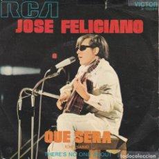 Discos de vinilo: 45 GIRI JOSE ' FELICIANO QUE SERA SANREMO 1971 RCA VICTOR SCOTSCH AUTOUR COVER. Lote 221444988