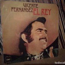 Discos de vinilo: VICENTE FERNANDEZ ?– EL REY / SI ACASO VUELVES,CBS ?. Lote 221447851