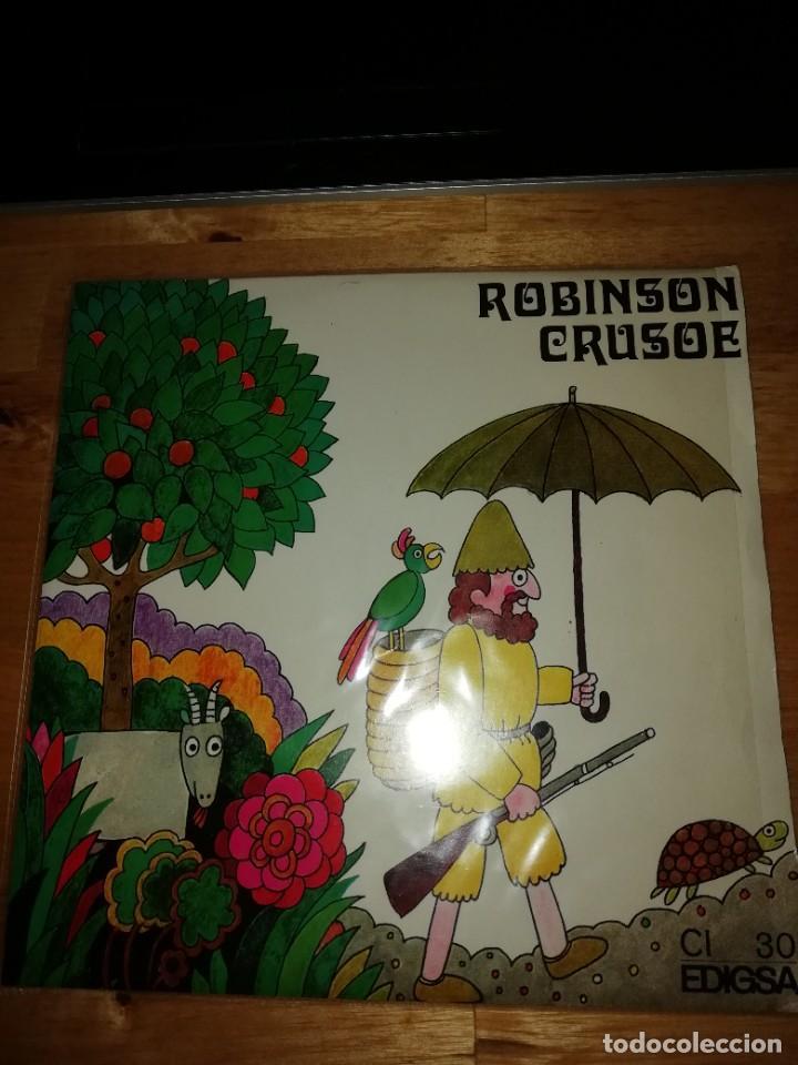 ROBINSON CRUSOE - DANIEL DEFOE - ALBERT VIDAL - JAUME PICAS - EDIGSA 1968 - SINGLE CI 30 - GALLARDO (Música - Discos - Singles Vinilo - Otros estilos)