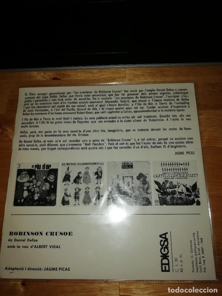 Discos de vinilo: ROBINSON CRUSOE - DANIEL DEFOE - ALBERT VIDAL - JAUME PICAS - EDIGSA 1968 - SINGLE CI 30 - GALLARDO - Foto 2 - 221451140