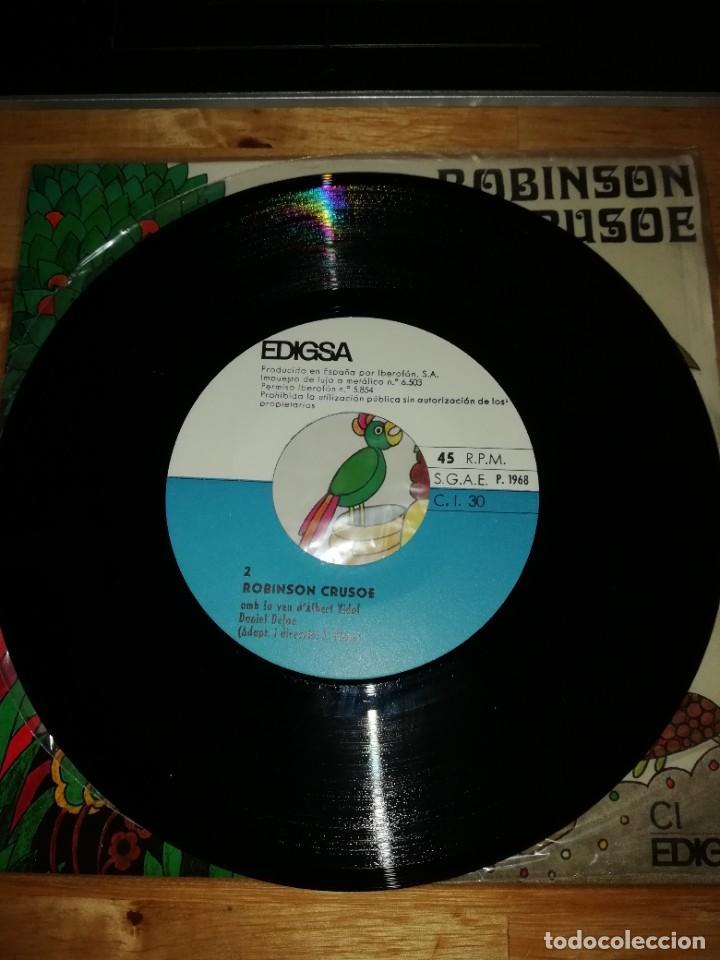 Discos de vinilo: ROBINSON CRUSOE - DANIEL DEFOE - ALBERT VIDAL - JAUME PICAS - EDIGSA 1968 - SINGLE CI 30 - GALLARDO - Foto 4 - 221451140