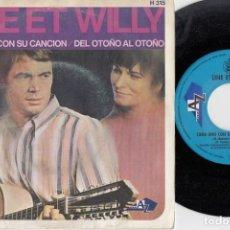Discos de vinilo: LINE ET WILLY A CHACUN SA CHANSO EUROVISION 1968 REPRESENTANTE MONACO SINGLE VINILO EDICION ESPAÑOLA. Lote 221452108