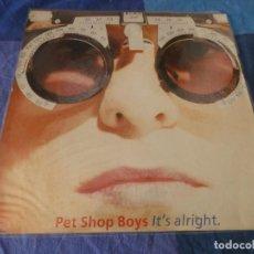 """Discos de vinilo: EXPRO MAXISINGLE 12"""" PET SHOP BOYS ITS ALRIGHT 1989 BUEN ESTADO. Lote 289812468"""