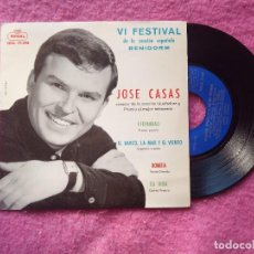 Discos de vinilo: EP JOSE CASAS - ETERNIDAD / BONITA / EL BARCO, EL MAR Y EL VIENTO / TU VIDA - SEDL 19.388 (EX-/EX-). Lote 221462350