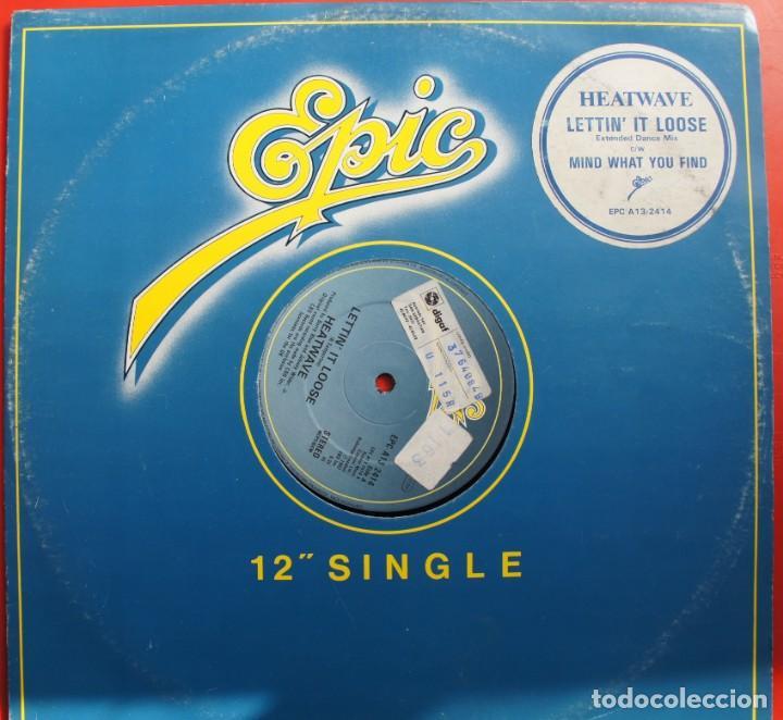 Discos de vinilo: DISCO DE VINILO-LETTIN IT LOOSE -HEATWAVE - Foto 2 - 221463783