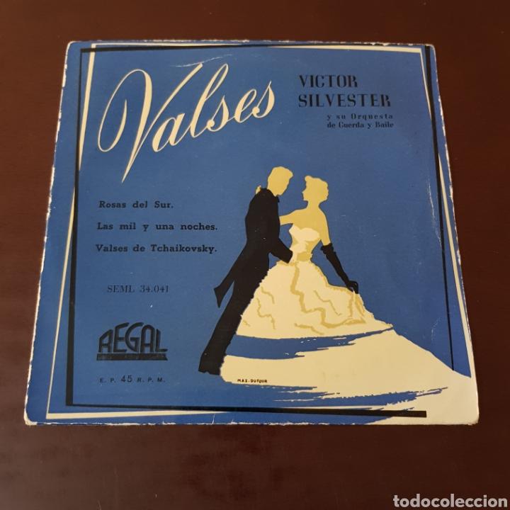 VICTOR SILVESTER - VALSES - ROSAS DEL SUR - LAS MIL Y UNA NOCHES - VALSES DE TCHAIKOVSKY - REGAL (Música - Discos - Singles Vinilo - Orquestas)