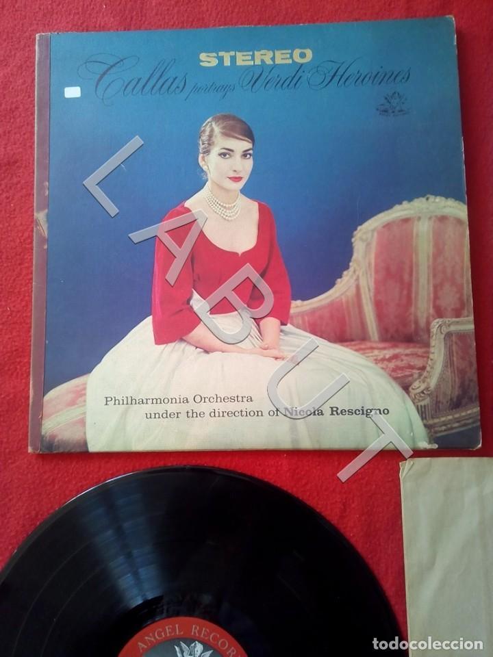 Discos de vinilo: CALLAS PORTRAYS VERDI HEROINES NICOLA RESCIGNO ANGEL RECORDS S 36763 LP D4 - Foto 2 - 221464172
