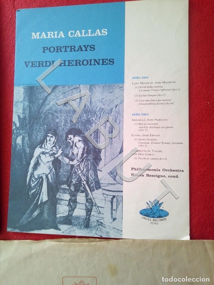 Discos de vinilo: CALLAS PORTRAYS VERDI HEROINES NICOLA RESCIGNO ANGEL RECORDS S 36763 LP D4 - Foto 3 - 221464172