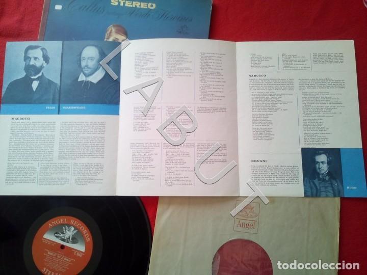 Discos de vinilo: CALLAS PORTRAYS VERDI HEROINES NICOLA RESCIGNO ANGEL RECORDS S 36763 LP D4 - Foto 4 - 221464172