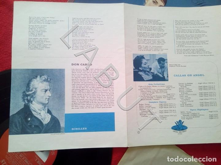 Discos de vinilo: CALLAS PORTRAYS VERDI HEROINES NICOLA RESCIGNO ANGEL RECORDS S 36763 LP D4 - Foto 5 - 221464172