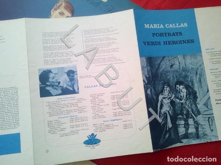 Discos de vinilo: CALLAS PORTRAYS VERDI HEROINES NICOLA RESCIGNO ANGEL RECORDS S 36763 LP D4 - Foto 6 - 221464172