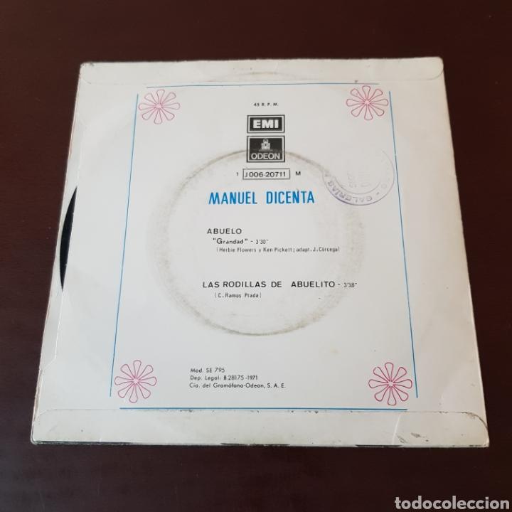 Discos de vinilo: MANUEL DICENTA - ABUELO - LAS RODILLAS DE ABUELITO - Foto 2 - 221464295
