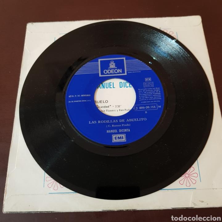 Discos de vinilo: MANUEL DICENTA - ABUELO - LAS RODILLAS DE ABUELITO - Foto 4 - 221464295